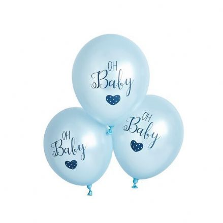 Blue Baby Shower Balloons - Oh Baby
